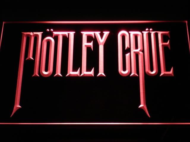 Motley Crue Band LED Neon Sign c112 - Red