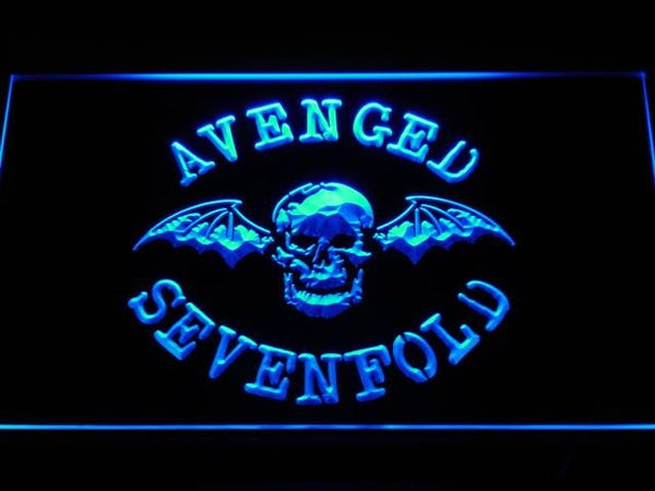 Avenged Sevenfold Band LED Neon Sign c113 - Blue