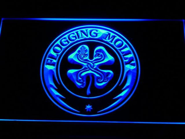 Flogging Molly Band LED Neon Sign c125 - Blue