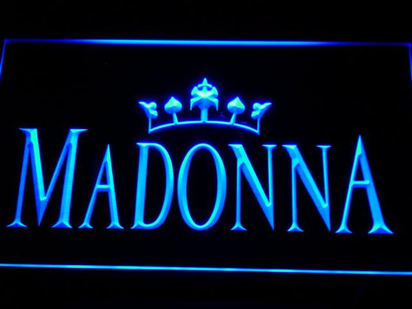 Madonna Queen Music LED Neon Sign c126 - Blue