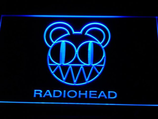 Radiohead Band LED Neon Sign c129 - Blue