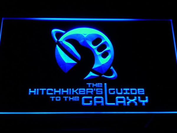 The Hitchhiker's Guide To The Galaxy LED Neon Sign c132 - Blue