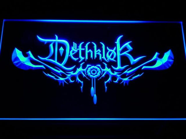 Dethklok Band LED Neon Sign c137 - Blue