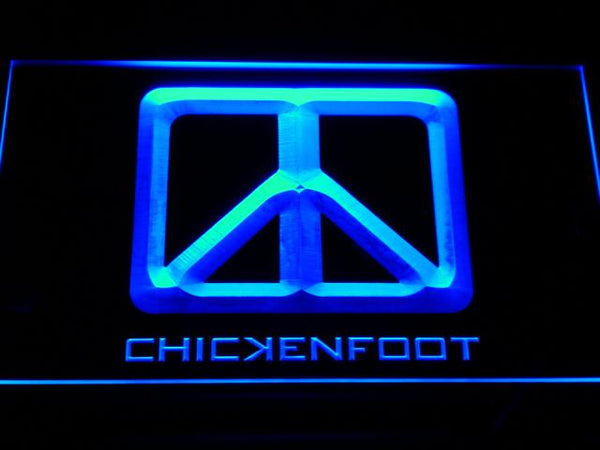 Chickenfoot Band LED Neon Sign c141 - Blue