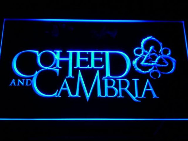 Coheed & Cambria Band LED Neon Sign c142 - Blue