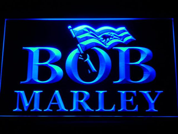 Bob Marley Music LED Neon Sign c151 - Blue