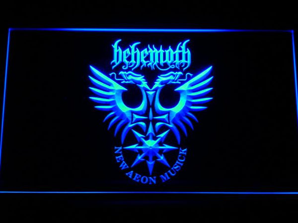 Behemoth Extreme Metal Band LED Neon Sign c172 - Blue