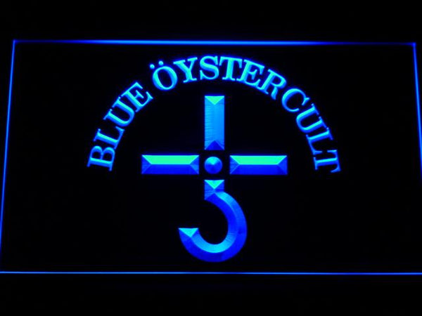 Blue Oyster Cult Band LED Neon Sign c173 - Blue