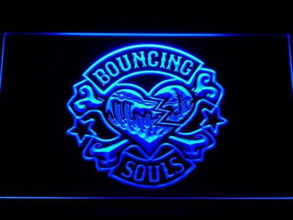 Bouncing Souls Punk Rock Band LED Neon Sign c175 - Blue
