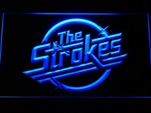The Strokes Rock Band LED Neon Sign c182 - Blue