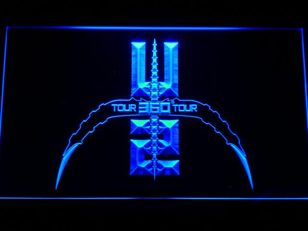 U2 360 Tour Band LED Neon Sign c187 - Blue