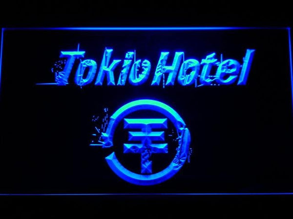 Tokio Hotel German Rock Band LED Neon Sign c190 - Blue