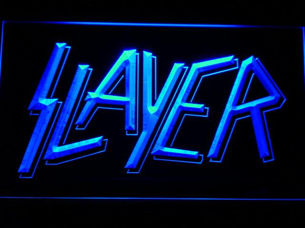 Slayer Band LED Neon Sign c194 - Blue
