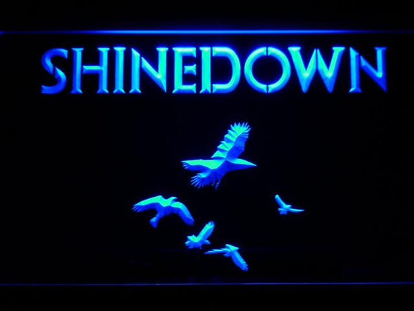 Shinedown American Rock Band LED Neon Sign c203 - Blue