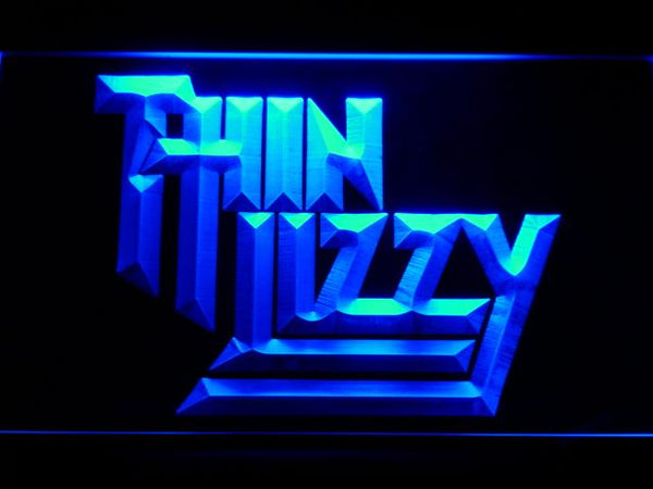 Thin Lizzy Band LED Neon Sign c210 - Blue