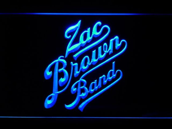 Zac Brown Band Country Music Band LED Neon Sign c230 - Blue