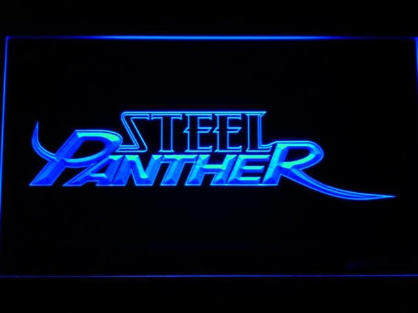 Steel Panther Band LED Neon Sign c234 - Blue