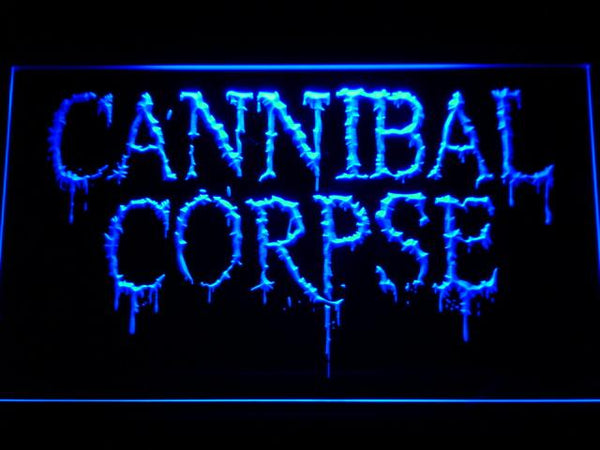 Cannibal Corpse Band LED Neon Sign c240 - Blue