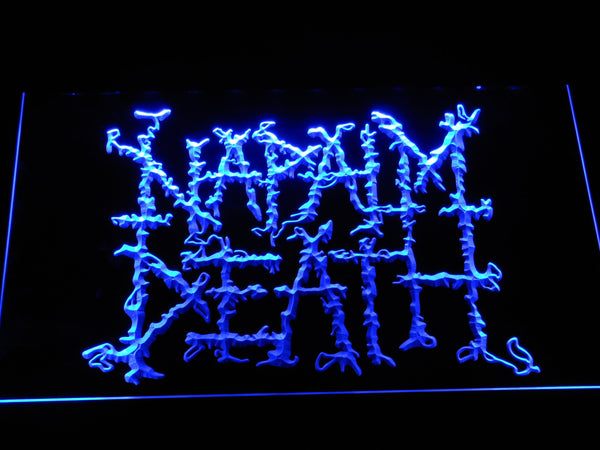 Napalm Death Band LED Neon Sign c257 - Blue