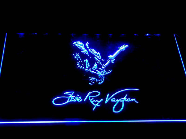 Stevie Ray Vaughan Americna Musician LED Neon Sign c260 - Blue