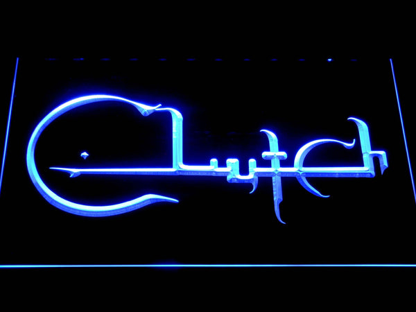 Clutch Band LED Neon Sign c264 - Blue