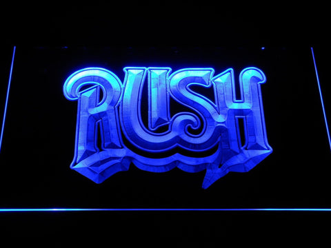 Rush Band LED Neon Sign c268 - Blue