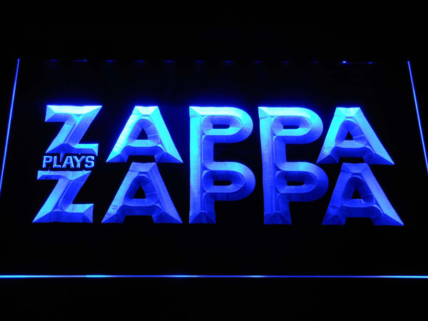 Zappa Plays Zappa Band LED Neon Sign c272 - Blue