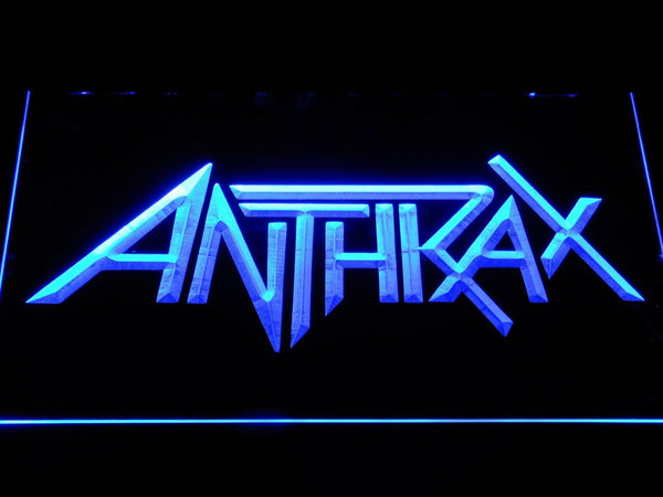 Anthrax American Band LED Neon Sign c287 - Blue