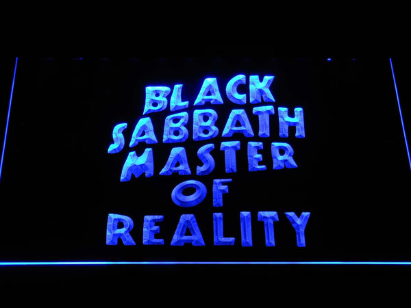 Black Sabbath Master Of Reality LED Neon Sign c288 - Blue