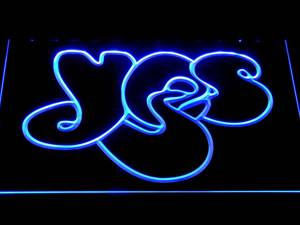 Yes Psychedelic Band LED Neon Sign c356 - Blue