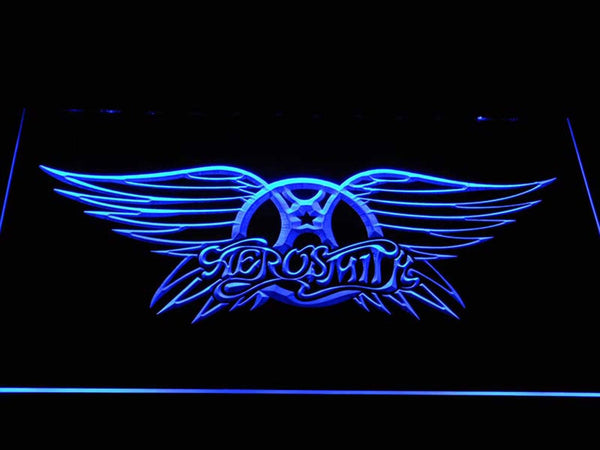 Aerosmith Rock Band LED Neon Sign c402 - Blue