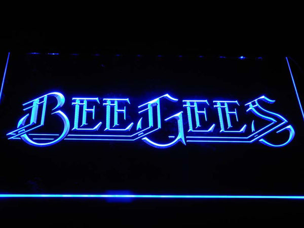 Bee Gees Pop Music LED Neon Sign c403 - Blue