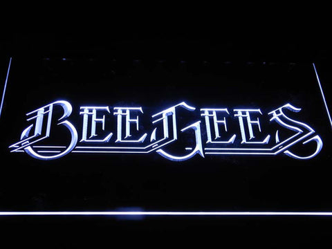 Bee Gees Pop Music LED Neon Sign c403 - White