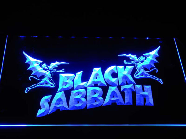 Black Sabbath English Rock Band LED Neon Sign c405 - Blue
