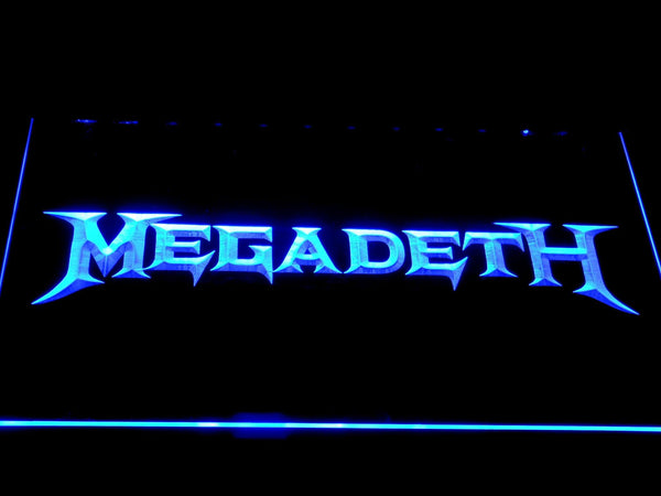 Megadeth American Heavy Metal Band LED Neon Sign c406 - Blue