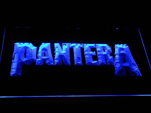 Pantera Heavy Metal Band LED Neon Sign c407 - Blue