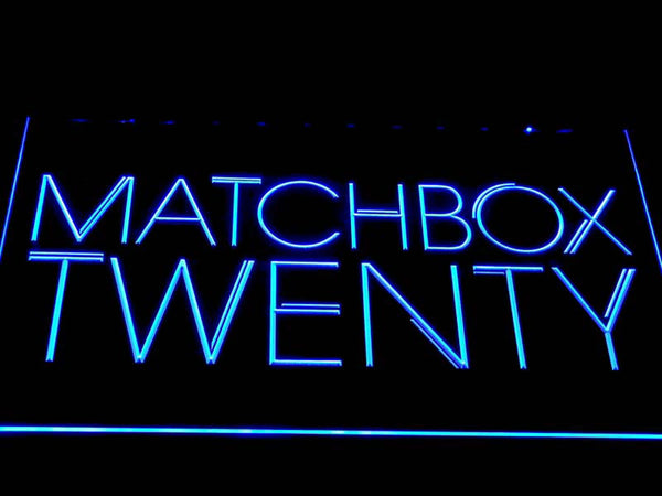 Matchbox Twenty Rock Band LED Neon Sign c411 - Blue