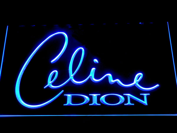 Celine Dion Pop Singer LED Neon Sign c425 - Blue