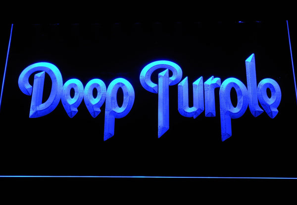 Deep Purple English Rock Band LED Neon Sign c427 - Blue