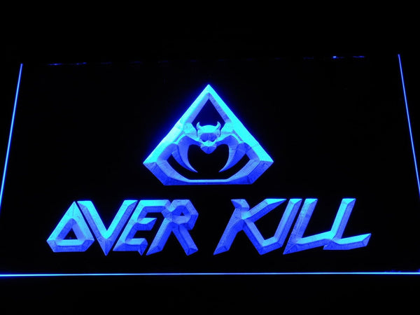 Overkill Thrash Metal Band LED Neon Sign c433 - Blue