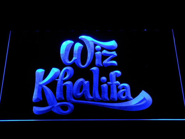 Wiz Khalifa Rapper LED Neon Sign c458 - Blue