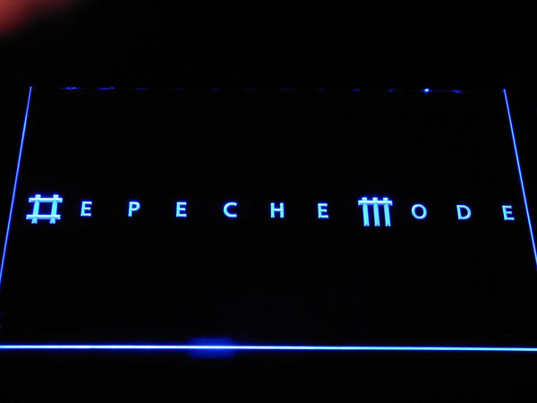 Depeche Mode Electronic Band LED Neon Sign c468 - Blue