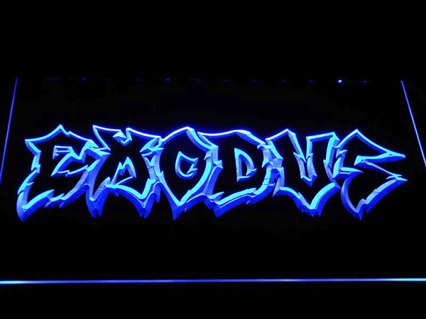 Exodus Thrash Metal LED Neon Sign c469 - Blue