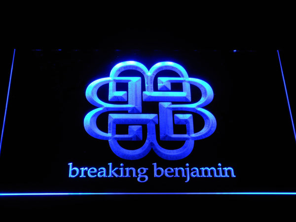 Breaking Benjamin Rock Band LED Neon Sign c483 - Blue