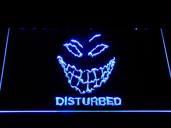 Disturbed The Guy LED Neon Sign c488 - Blue