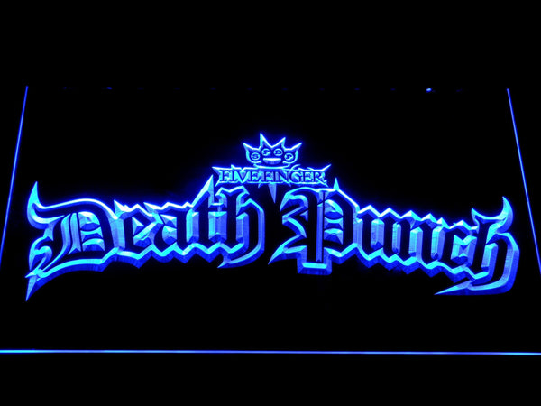 Five Finger Death Punch Music LED Neon Sign c490 - Blue
