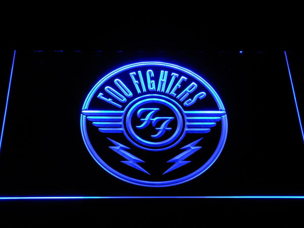 Foo Fighters Badge LED Neon Sign c491 - Blue