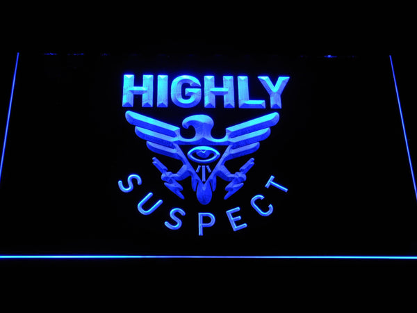 Highly Suspect American Rock Trio LED Neon Sign c496 - Blue