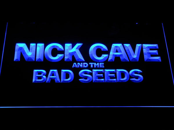 Nick Cave & The Bad Seeds Rock Band LED Neon Sign c503 - Blue