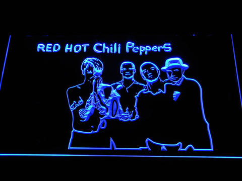 Red Hot Chili Peppers Silhouette LED Neon Sign c510 - Blue